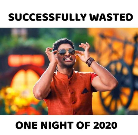 One night of 2020 wasted
